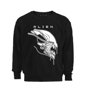 Sweat Homme Pochoir Aliens Xenomorph - Noir