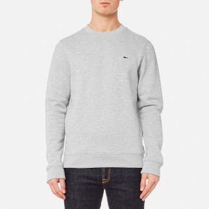 Lacoste Men's Crew Neck Sweatshirt - Silver Chine/Navy Blue