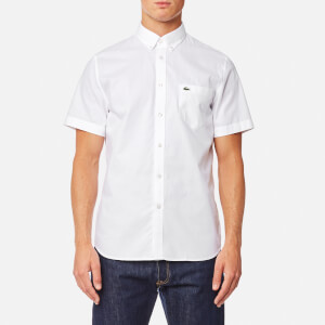 Lacoste Men's Short Sleeve Shirt - White/White