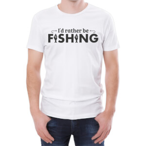 I'd Rather Be Fishing Men's White T-Shirt