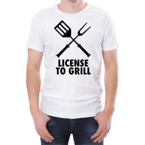 Tongs Licensed To Grill Men's White T-Shirt