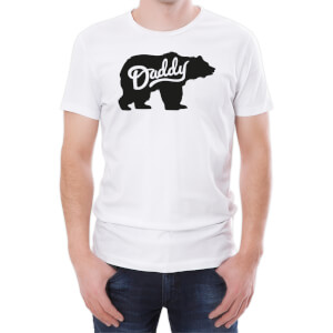 Daddy Bear Men's White T-Shirt