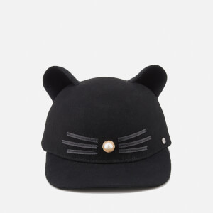 Karl Lagerfeld Women's K/Cat Pearl Cap - Black