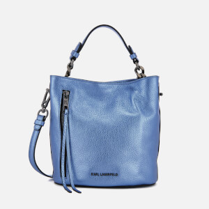 Karl Lagerfeld Women's K/Kool Mini Bucket Bag - Metallic Light Blue