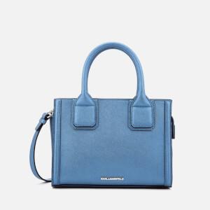 Karl Lagerfeld Women's K/Klassik Mini Tote Bag - Metallic Light Blue