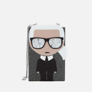 Karl Lagerfeld Women's K/Ikonik Karl Minaudiere Bag - Black