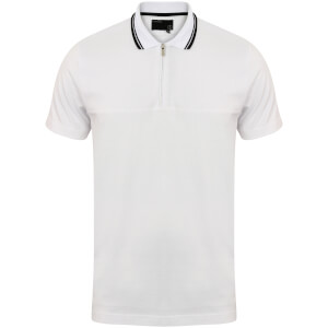 Dissident Men's Henstridge Half Panel Polo Shirt - White