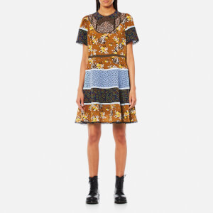 Coach Women's Mixed Print Circle Dress - Teak Multi