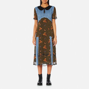 Coach Women's Pretty Mix Dress - Blue Multi