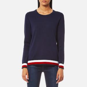 Tommy Hilfiger Women's Ivy Crew Neck Sweatshirt - Peacoat