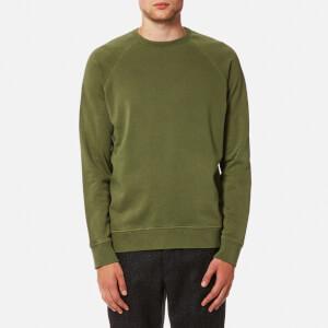 YMC Men's Schrank Raglan Sweatshirt - Olive