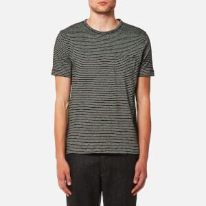 YMC Men's Henri T-Shirt - Black/Ecru