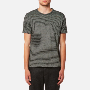 YMC Men's Henri T-Shirt - Black/Ecru