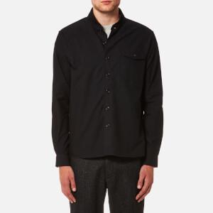 YMC Men's Delinquents Rib Collar Shirt - Black