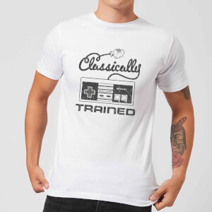 "Camiseta Nintendo NES Retro ""Classically Trained"" - Hombre - Blanco"