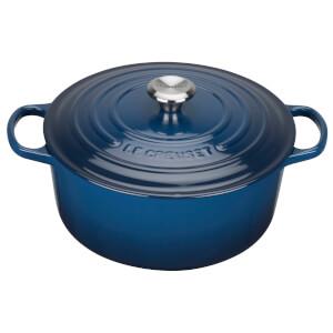 Le Creuset Signature Cast Iron Round Casserole Dish - 20cm - Ink