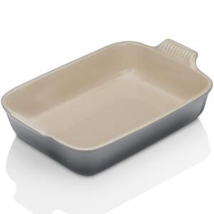 Le Creuset Stoneware Large Heritage Rectangular Roasting Dish - Flint