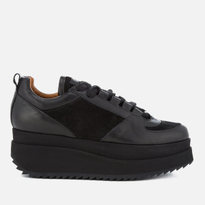 Ganni Women's Naomi Leather Trainers - Black