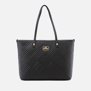 Love Moschino Women's Shiny Quilted Tote Bag - Black