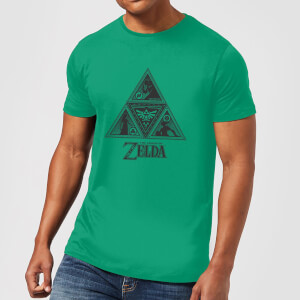 Nintendo Zelda Triforce Courage Wisdom Power Heren T-shirt - Groen