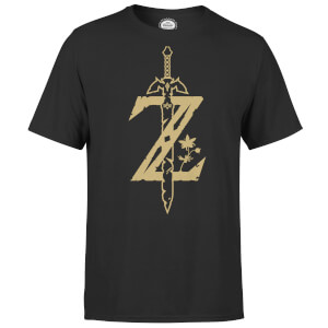 T-Shirt Nintendo The Legend Of Zelda Master Sword - Nero - Uomo
