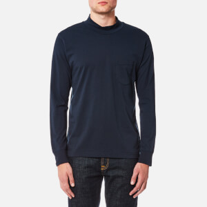 Universal Works Men's Long Sleeve Turtleneck Top - Navy