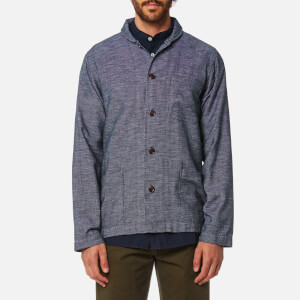 Universal Works Men's Shawl Collar Overshirt - Navy