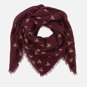 Vivienne Westwood Women's Spotted Wool Scarf - Plum