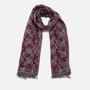 Vivienne Westwood Women's Graphic Orb Print Scarf - Oxblood