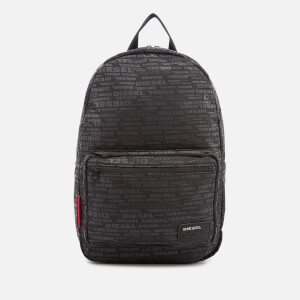 Diesel Men's Discover Backpack - All Over Logo Black
