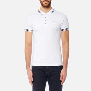 Diesel Men's Randy Tipped Polo Shirt - White