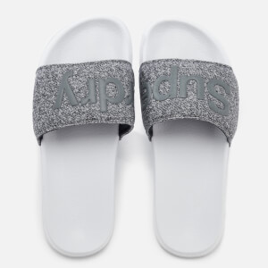 Superdry Men's Pool Slide Sandals - Optic/Grey Grit