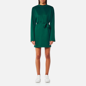 House of Sunny Women's Kicker T-Shirt Long Sleeve Dress - Organic Green