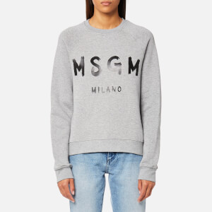 MSGM Women's Graffiti Logo Sweatshirt - Grey
