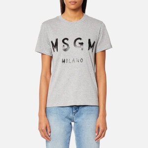 MSGM Women's Graffiti Logo T-Shirt - Grey