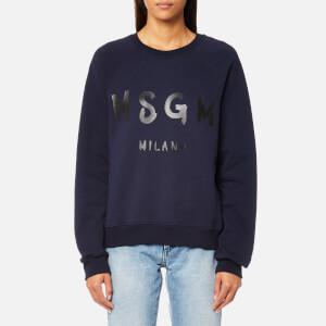 MSGM Women's Graffiti Logo Sweatshirt - Navy