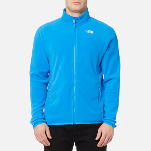 The North Face Men's 100 Glacier Full Zip Fleece Jumper - Blue Aster