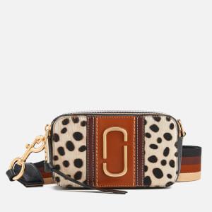 Marc Jacobs Women's Dalmation Calf Hair Snapshot Cross Body Bag - Black Multi