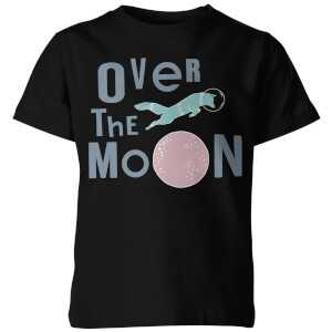My Little Rascal Kids Over the Moon Black T-Shirt