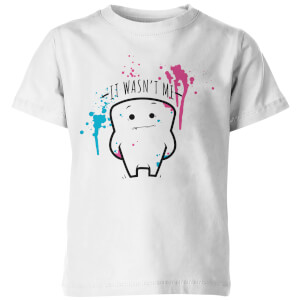 It Wasn't Me! Kid's White T-Shirt