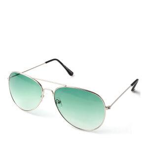Men's Aviator Gradient Sunglasses - Silver/Blue