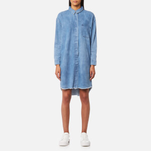 Selected Femme Women's Petra Long Sleeve Denim Dress - Medium Blue