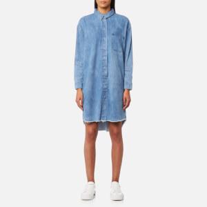 Selected Femme Women's Petra Long Sleeve Denim Dress - Medium Blue