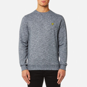 Lyle & Scott Men's Crew Neck Mouline Sweatshirt - Charcoal