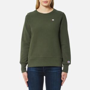 Champion Women's Crew Neck Sweatshirt - Green