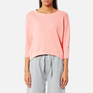 Champion Women's 3/4 Sleeve Sweatshirt - Pink