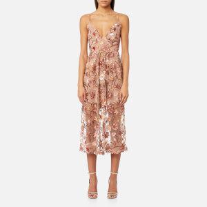 For Love & Lemons Women's Botanic Midi Dress - Nude Floral