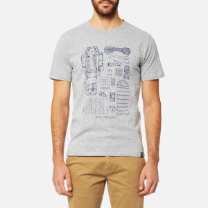 Joules Men's Short Sleeve Graphic T-Shirt - Grey Marl