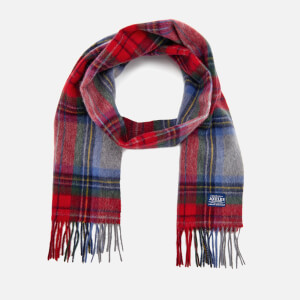Joules Men's Tytherton Wool Scarf - Red Check