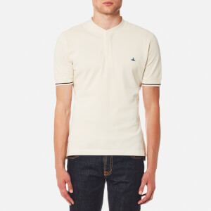 Vivienne Westwood MAN Men's Organic Pique Collarless Polo Shirt - Off White